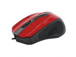 Мышь компьютерная Apedra M3 проводная Red (3234-9642)