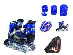 Набор роликовые коньки Scale Sport 29-33 Blue