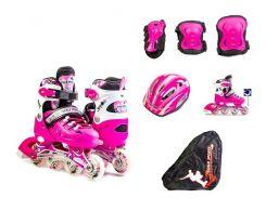 Набор роликовые коньки Scale Sport 34-37 Pink