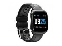 Умные часы Smart band QW12 с тонометром Black (SB001QW12B)