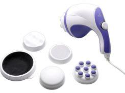 Портативный вибромассажер для тела Relax and Tone 25 Вт 5 насадок Белый (46-891709543)
