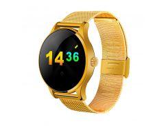 умные часы lemfo k88h с пульсометром золотистые (swlemk88hgold)