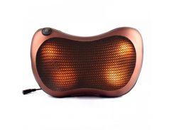 Массажная подушка Massage Pillow Car and Home с инфракрасным подогревом для всего тела Коричневый (hub_DqyE39355)