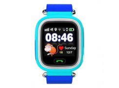 Детские смарт-часы UWatch Q90 с GPS трекером Blue (1058-8041)