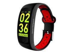 Фитнес-браслет Smart Band UMax Q6S 3D дисплей Тонометр Черно-красный (pxJp64675)