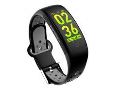 Фитнес-браслет Smart Band UMax Q6S 3D дисплей Тонометр Черно-серый (EoZV80404)
