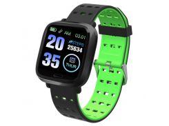 Фитнес-браслет Adenki A6 с пульсометром, мониторинг сна, давление Зеленый (30-7258-4)