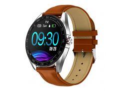 Смарт-часы Smart Watch K7 с функцией тонометра Коричневые (703-1)