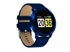 Смарт-часы Newwear Q8 с измерением давления и кожаным ремешком Синие (3416-3)