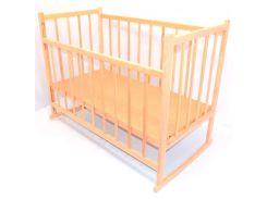 Кроватка-качалка деревянная с опускаемым бортиком №3 Ольха (05759)