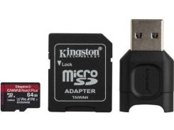 Карта памяти Kingston microSDXC 64GB Canvas React+ (MLPMR2/64GB) + Reader (6552774)