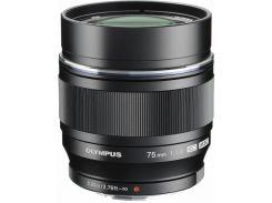 Объектив Olympus ET-M7518 75 мм 1:1.8 Black (6104568)