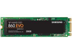 SSD накопитель Samsung 860 EVO 250GB M.2 SATA MLC (MZ-N6E250BW) (6381546)