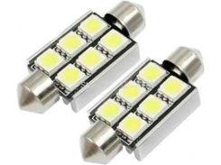 Автомобильная лампа Idial 449 T10 6 Led 5050 SMD CAN 2шт. (1759302)