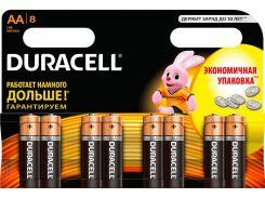 Батарейки Duracell LR06 AA Basic 8шт 81267254 (342205)