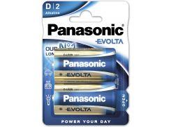Батарейки Panasonic LR20 Alkaline Evolta D 2шт LR20EGE/2BP (355613)