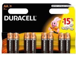 Батарейки Duracell LR06 MN1500 8шт 81545410 (3086078)