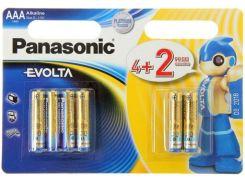 Батарейки Panasonic LR03 Evolta AAA 4+2шт LR03EGE/6B2F (1244355)