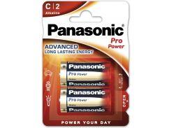 Батарейки Panasonic LR14 Alkaline Pro Power C 2шт LR14XEG/2BP (355637)