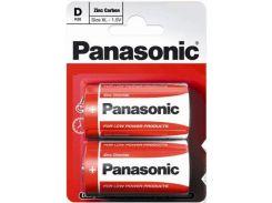 Батарейки Panasonic Red Zinc R20 2шт R20REL/2BP (355659)