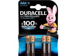Батарейки Duracell LR03 MX2400 Ultra Power 4шт 5004806 (3086097)