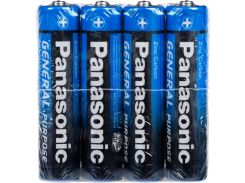 Батарейки Panasonic General Purpose AAA Zinc-Carbon 4шт R03BER/4PR (2744228)