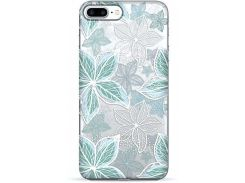 Чехол Pump Transperency Case для iPhone 8 Plus/7 Plus Blue Flowers (PMTR8P/7P-7/56)