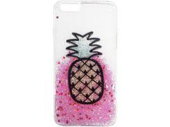 Накладка Florence силиконовая Блестки Apple Iphone 6/6S Pineapple RL051305 (2889172)