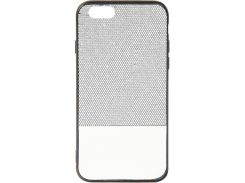 Чехол Florence Leather + Shining for Apple Iphone 6/6S Silver/White (RL051272)