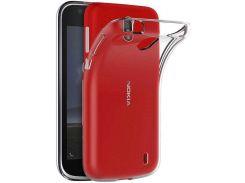 Чехол Laudtec для Nokia 1 Clear tpu LC-N1T Transperent (2994321)
