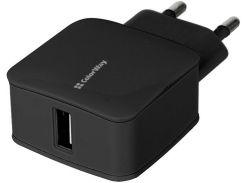 Зарядное устройство Colorway CW-CHS001-BK 1A Черный (2476922)