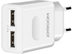 Зарядное устройство Joyroom L-L221 2A + Lightning cable White (RL047648)