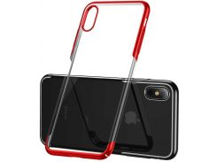 Чехол Baseus Glitter для iPhone Xs Red (WIAPIPH58-DW09)