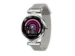 Смарт-часы Lemfo H1 c функцией тонометра Серебристые (17-2)