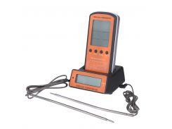 Профессиональный цифровой двухзонный беспроводной термометр для мяса GRILLI 062-DTH-106 (77786)