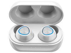 Беспроводные Bluetooth наушники Remax True TWS-16 в кейсе Silver