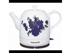 Чайник электрический Керамика ViLgrand VC0515R 1.5 л Белый (34-45642)