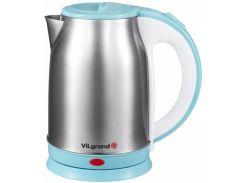 Чайник электрический ViLgrand VS018102 1.8 л Нержавеющая сталь Голубой (34-45554-1)