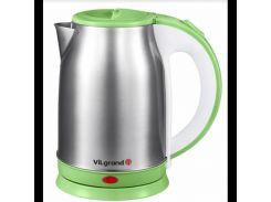 Чайник электрический ViLgrand VS018102 1.8 л Нержавеющая сталь Зеленый (34-45555-2)