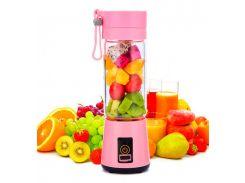 Портативный фитнес-блендер Daiweina Smart Juice Pink шейкер для коктейлей и смузи USB (3479-10078)