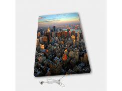 Обогреватель настенный электрический инфракрасный картина АртТепло Город в закате (Hot00004)