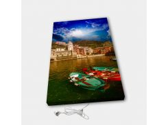 Обогреватель настенный электрический инфракрасный картина ионизация АртТепло Лодки (Hot00013)