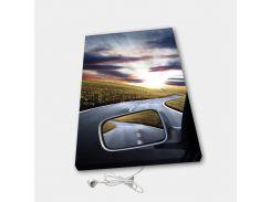 Обогреватель настенный электрический инфракрасный картина ионизация АртТепло Из машины (Hot00010)