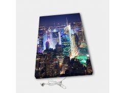 Обогреватель настенный электрический инфракрасный картина ионизация АртТепло Ночной город (Hot00016)