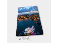 Обогреватель настенный электрический инфракрасный картина АртТепло Ночной город 2 (Hot00017)