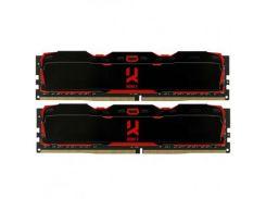 Оперативная память для компьютера DDR4 16GB (2x8GB) 3000 MHz Iridium X Black GOODRAM IR-X3000D464L16S/16GDC (8551625)