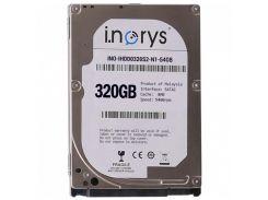 Жесткий диск i.norys 320GB 5400rpm 8MB INO-IHDD0320S2-N1-5408 2.5 SATA II (1311-6223a)
