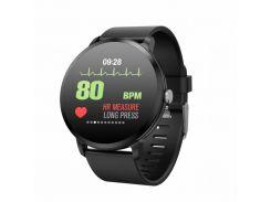 Смарт фитнесс часы MGM Smart Life V11 Plus Original водонепроницаемые Чёрные