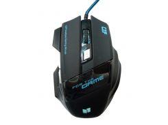 Мышь проводная игровая MHZ G-509-7 5180 Gaming mouse LED Черный (008793)