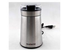 Электрическая кофемолка измельчитель Promotec PM-599 280W 70гр Coffee Grinder Steel (112451)